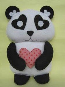Urso Panda de Feltro