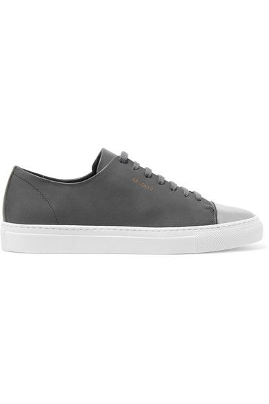 Axel Arigato - Metallic-trimmed Leather Sneakers - Dark gray - IT37