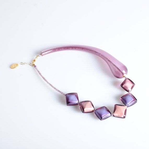 Necklace Original Murano Glass  Trademark of Origin by YourMurano