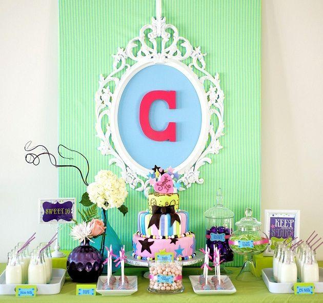 Girls Party Ideas, use a color scheme