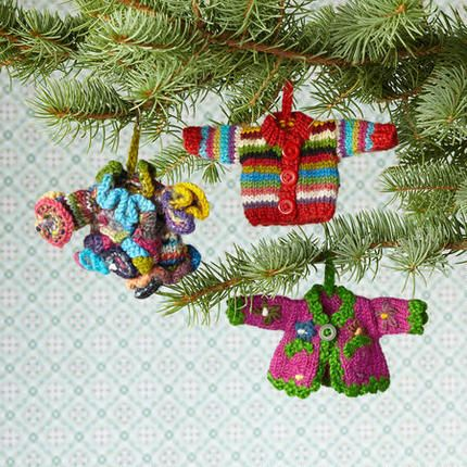 Knitting Patterns Christmas Figures : SWEATER ORNAMENTS, SET OF 3 For USD48.00 bucks, I think I can figure out how to...
