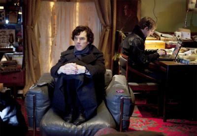 how Sherlock watches TV