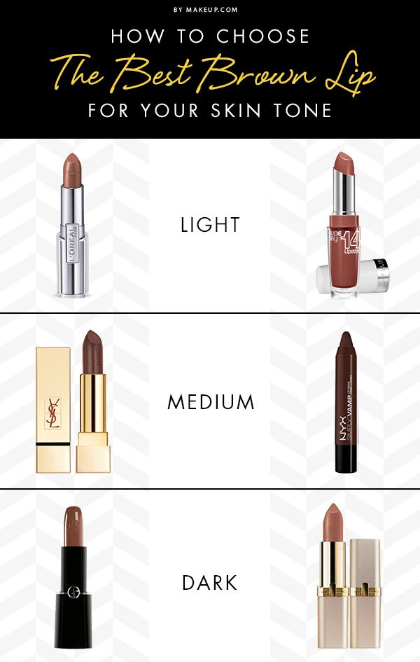 Fall means brown lipstick! If you're not sure which shade is right for you, then we've got the guide for how to choose the best one for your skin tone!