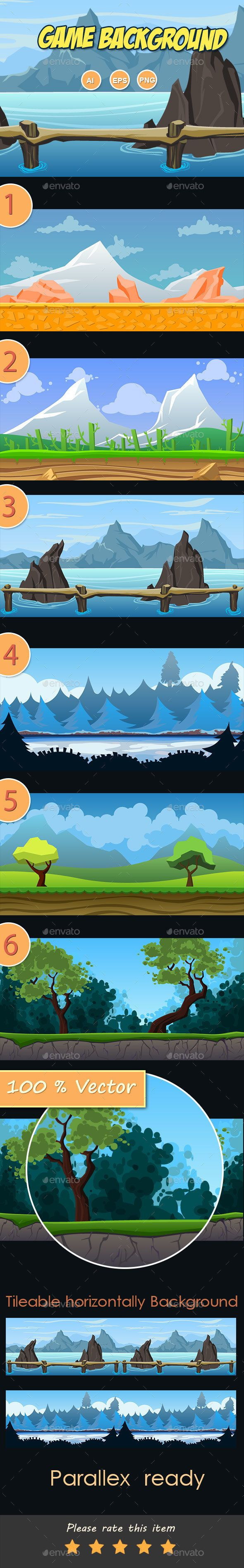 6 Fresh Game Background — Vector EPS #level game background #game • Available here → https://graphicriver.net/item/6-fresh-game-background-/14207953?ref=pxcr