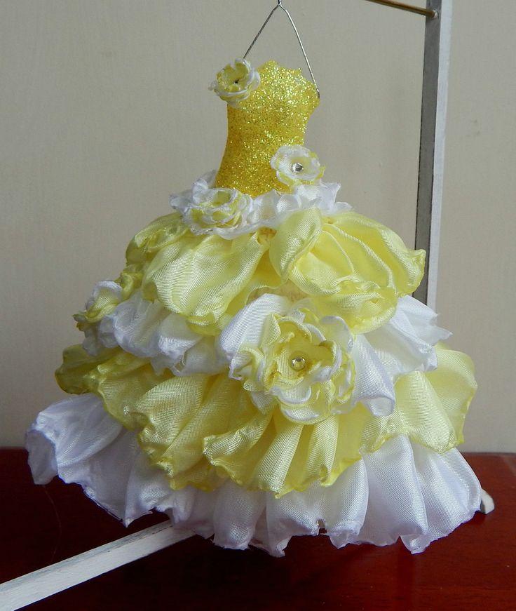 1/12th Fairytale Lemon Meringue Silk Ruffles Wedding Dress. | eBay