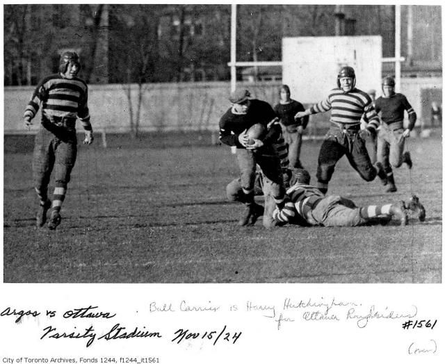 Toronto Argonauts are the oldest sports franchise in North America-1924 Vs. Ottawa Rough Riders