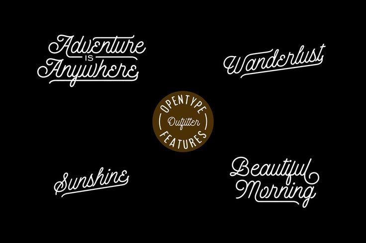 Fetridge & Outfitter Script Promo by Imagi Type Co. on Creative Market #typography #handdrawn #handtype #handmade #font #lettering #signpainting #vintage #retro