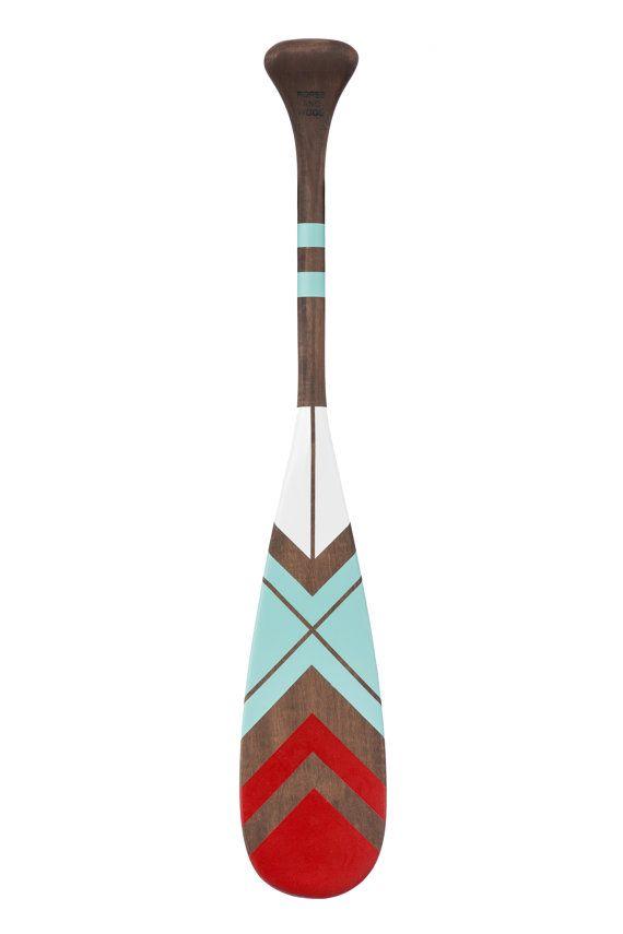 "canoe paddle ,24"" oar, hand painted canoe paddle, personalized, nautical style, Christmas gift"