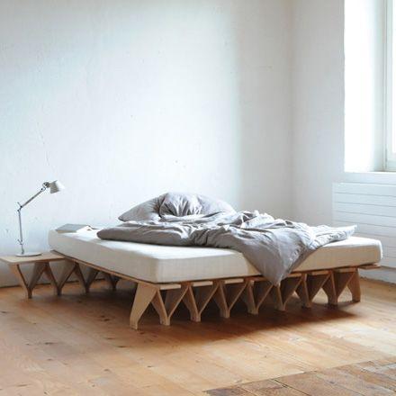 45 best unique bed frames images on pinterest for Unique bed frame ideas