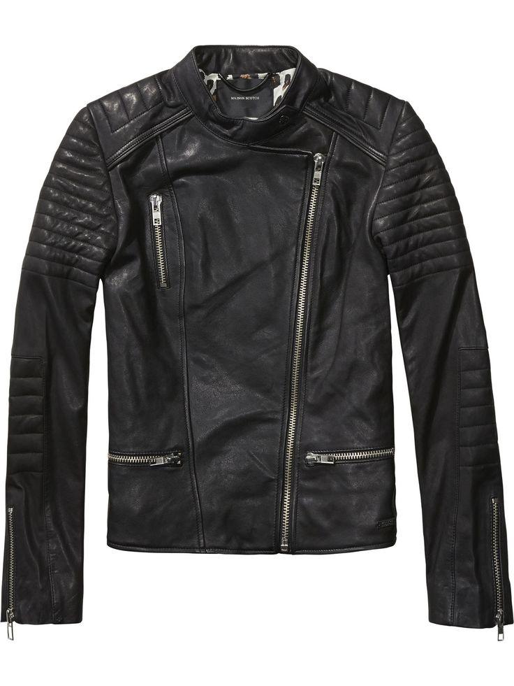 Leather Biker Jacket | Leather Jackets | Women's Clothing at Scotch & Soda