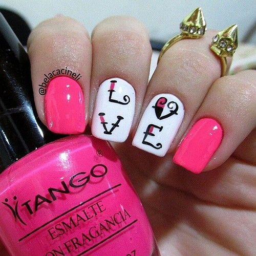 LOVE  nas unhas da @belacacineli #tango #pinknails #love #unhas #nails #ongles #uñas #smalto #polish #nailpolish #vernis #instanails #nailstagram #nailstoinspire #potd #notd #cutenails #unhasdecoradas #unhasdelicadas #nailart #naillacquer #vernisaongles http://decoraciondeunas.com.mx #moda, #fashion, #nails, #like, #uñas, #trend, #style, #nice, #chic, #girls, #nailart, #inspiration, #art, #pretty, #cute, uñas decoradas, estilos de uñas, uñas de gel, uñas postizas, #gelish, #barniz,