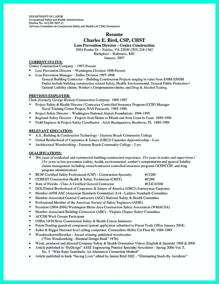 Construction laborer resume is designed for those who will