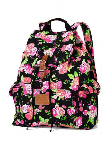 Victoria's Secret Floral Backpack. This WILL be mine this school year! :)