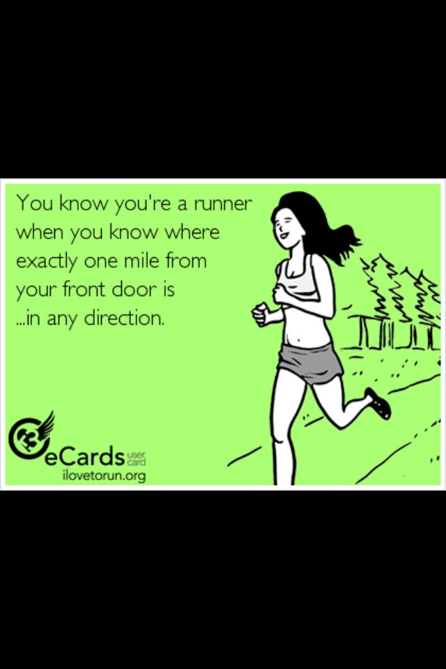 Maybe not one mile in any direction, but I do know the distance to every major intersection in or around my neighborhood!