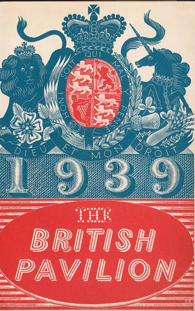 New York Worlds Fair, 1939 - The British Pavilion brochure, front cover designed by Eric Ravilious