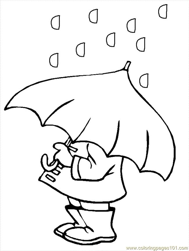 weather coloring pages pdf 05 P Umbrella coloring page