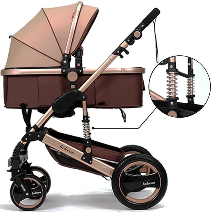 Belecoo Luxury Newborn Baby Foldable Anti Shock High View