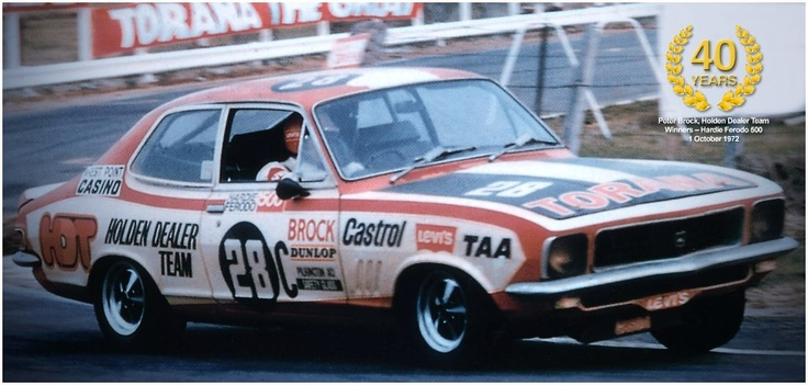 On This Day, 1 October 1972 – Peter Brock won the Hardie Ferodo 500 in his 28C Holden Dealer Team LJ Torana GTR-XU1, the first of his record nine Bathurst victories!