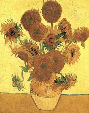 Vase with fifteen Sunflowers by van Gogh. A brief understanding of the Sunflower Paintings.