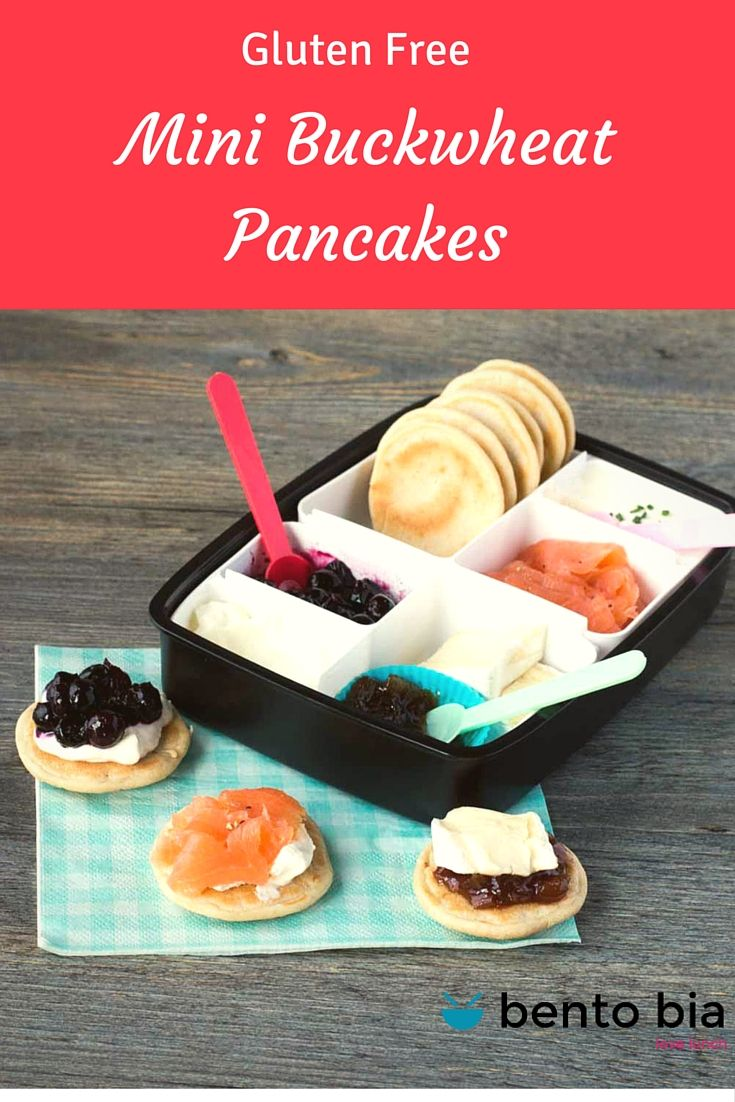 Mini Buttermilk Buckwheat Pancakes for Bento Box - Gluten Free With 3 ...
