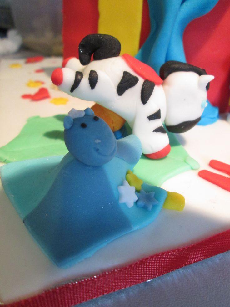 Détails gâteau #Anniversaire Le doudou et le zèbre sauteur!