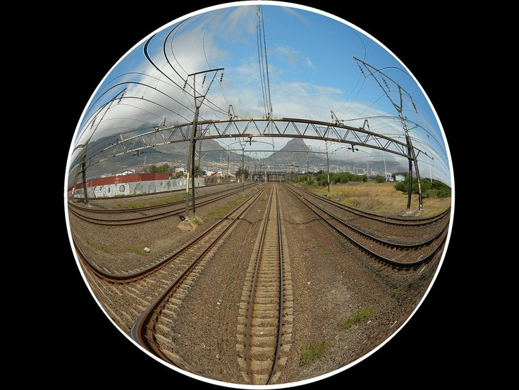 Train view of Cape Town