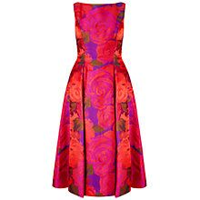 Buy Adrianna Papell Sleeveless Tea Length Dress, Magenta Online at johnlewis.com