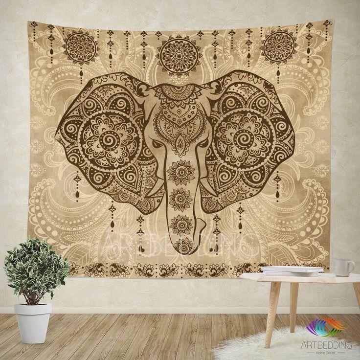 78 best Elephant inspired wall tapestry design, Elephant ...