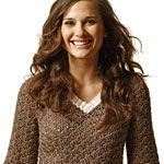Crocheted V-neck pullover: 1 of 5