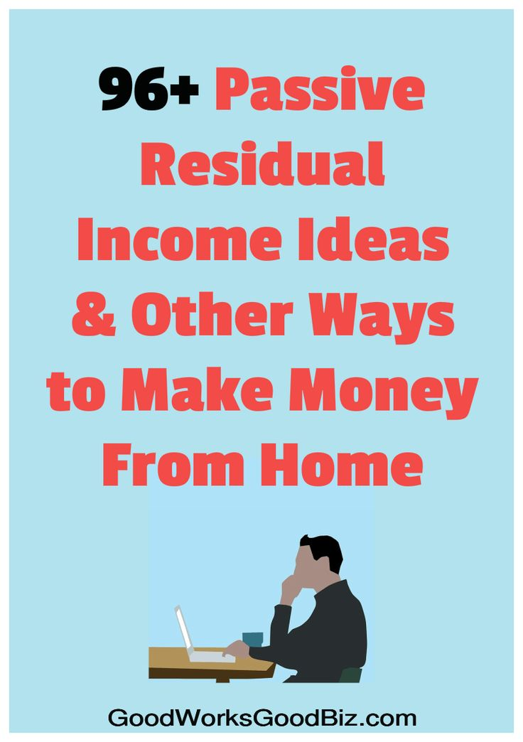 FAST Money Makers: 96+ Passive Residual Income Ideas and Other Ways to Make Money From Home