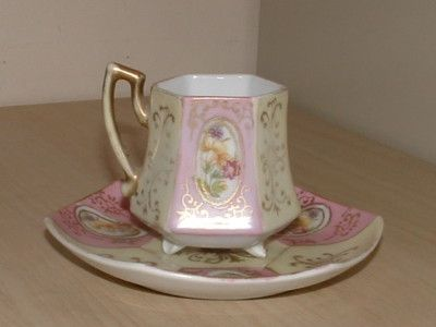 OCCUPIED JAPAN FOOTED TEA CUP & SAUCER