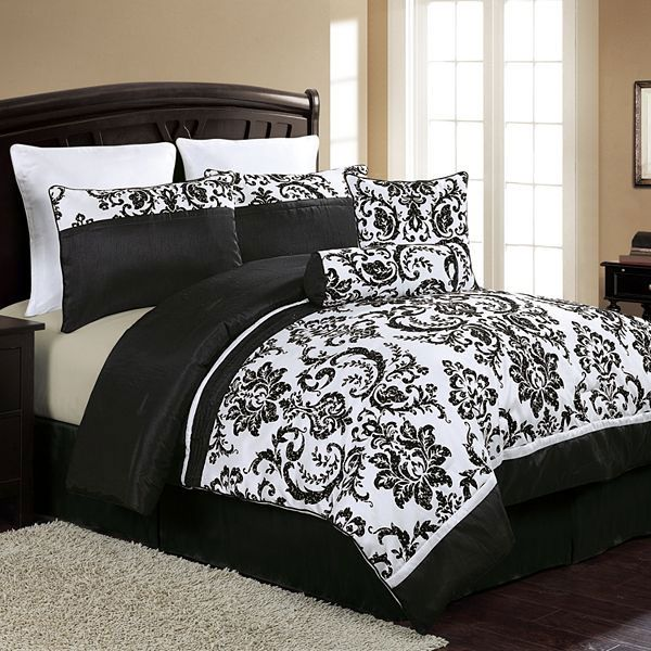 94 Best Black And White Bedding Images On Pinterest Bedrooms Rhpinterest: Bedroom Comforter Sets Queen White At Home Improvement Advice