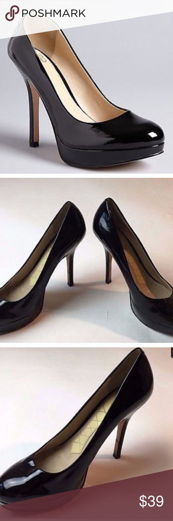Joan & David Flipp Black Patent Leather Heels sz 8 Joan & David Flipp Black Patent Leather Classic High Stiletto Pumps Heels sz 8 heel height is 4.75 inches Joan & David Shoes Heels