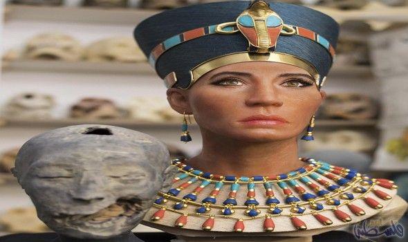 العلماء يقر رون إعادة وجه الساحرة الملكة نفرتيتي إلى الحياة Queen Nefertiti Nefertiti Egyptian Queen
