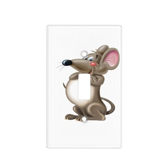 Cute funny mouse light switch cover