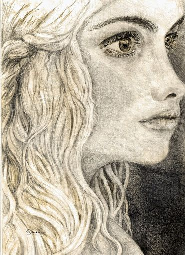 Google+the latest drawing :) one of my favourite characters from #GoT #Khaleesi Hope you like it!