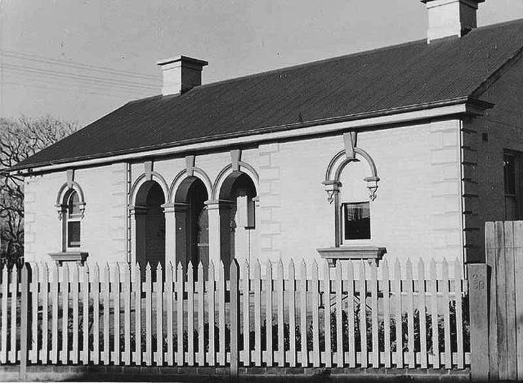 Wallsend Police Station at 12 Tyrell St,Wallsend in New South Wales (year unknown).