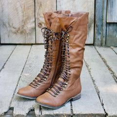 Upper County Boots in Oak: