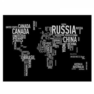 Tela Mapa Do Mundo 60X80 - Urban
