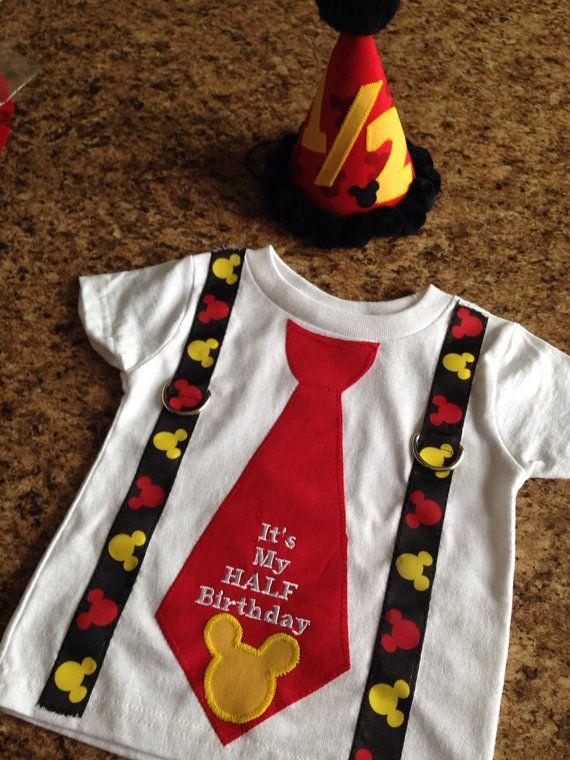 Mickey Mouse Half birthday. Half birthday by Classyritzybabies, $30.00