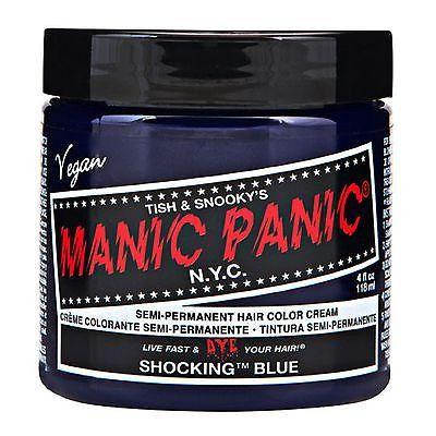 MANIC PANIC Classic Cream Shocking™ Blue Semi-Permanent 4 oz Vegan Hair Dye.