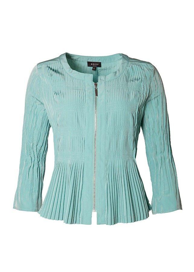 Leichte Jacke mit Biesen, erhältlich auch in Pink.