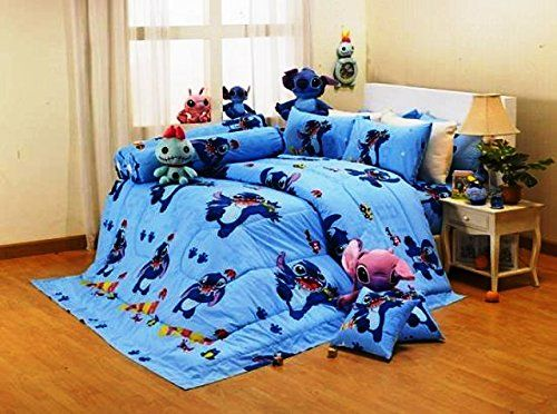 Lilo Amp Stitch Cartoon Ultra Soft Bed Fitted Sheet Set 5
