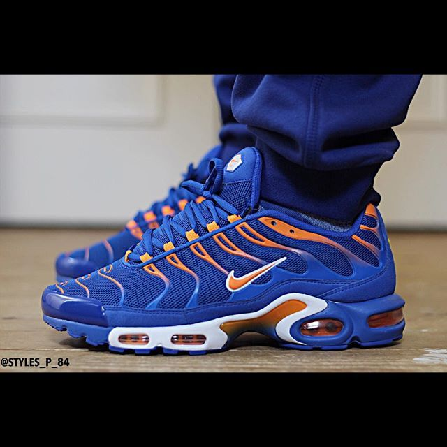1⃣5⃣ Nike Air Max Plus TN TXT - Lyon Blue  Total Orange  White ⚪ aka