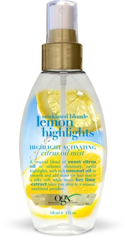 OGX Sunkissed Blonde Lemon Highlights Citrus Oil Mist http://Ulta.com - Cosmetics, Fragrance, Salon and Beauty Gifts