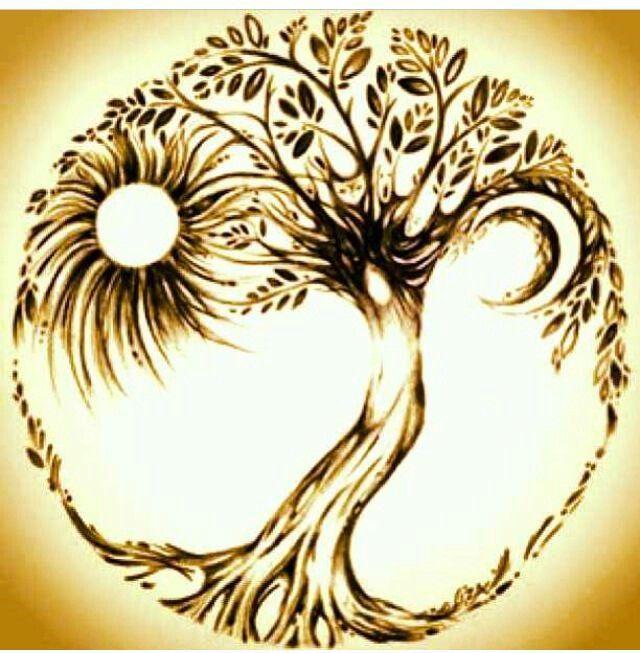 Ying yang sun moon tattoo idea