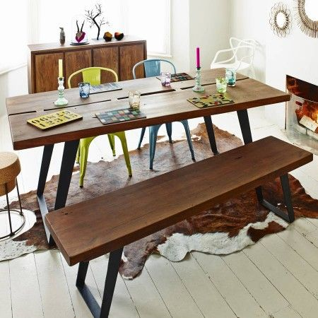 Sylvester Dining Table and Bench - View All Furniture - Furniture