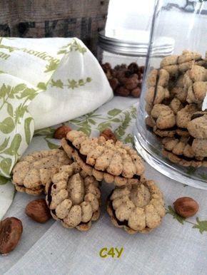 Biscuits à la noisette fourrés chocolat (spécial presse à biscuits)