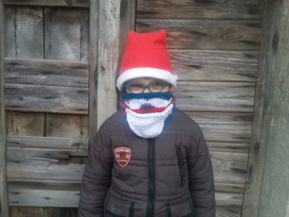 Knitting Pattern - Santa Claus Neckwarmer for Boys