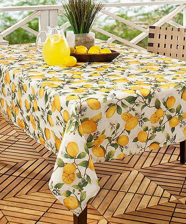 Look What I Found On Lemon Tree Fl Spill Proof Indoor Outdoor Tablecloth